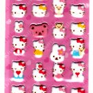 Sanrio Japan Hello Kitty and Teddy Fuzzy Sticker Sheet 2004 Kawaii