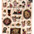 San-X Japan Sentimental Circus Stone Epoxy Sticker Sheet 2011 Kawaii