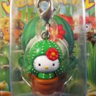 Sanrio Japan Hello Kitty Regional Izu Saboten Mascot Charm Zipper Pull New in Box 2006 Kawaii