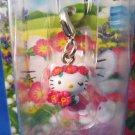 Sanrio Japan Hello Kitty Regional Hokkaido Flower Island Mascot Charm Zipper Pull 2003 Kawaii