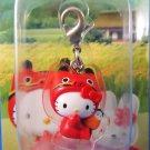Sanrio Japan Hello Kitty Regional Mascot Charm Zipper Pull 2004 Kawaii