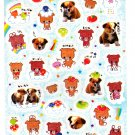 Crux Japan Lovely Puppies Sticker Sheet Kawaii