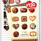 Kamio Japan I Love Chocolate Letter Set with Stickers Kawaii