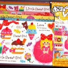 Crux Japan Little Sweet Girl Letter Set with Stickers Kawaii
