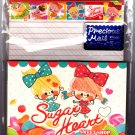 Kamio Japan Sugar Heart Letter Set with Stickers Kawaii