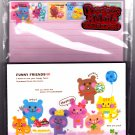 Kamio Japan Funny Friends Letter Set with Stickers Kawaii
