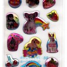 Lemon Japan Sweet Animals Epoxy Mini Sticker Sheet Kawaii