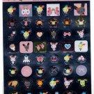 Sanrio Japan Usahana Foil Sticker Sheet (A) 2006 Kawaii