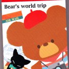 Kamio Japan Bear's World Trip Mini Memo Pad Kawaii