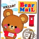 Kamio Japan Bear Mail Mini Memo Pad Kawaii