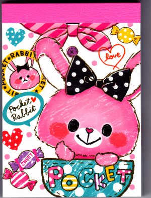 Crux Japan Pocket Rabbit Mini Memo Pad Kawaii