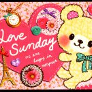 Crux Japan Love Sunday Mini Memo Pad Kawaii