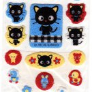 Sanrio Japan Chococat Fuzzy Sticker Sheet 1999 Kawaii