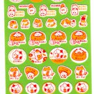 Point Inc. Japan Maruster World Fuzzy Sticker Sheet (A) Kawaii