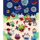 Ark Road Japan Bunny Summer Fesitval Sticker Sheet Kawaii