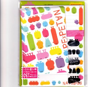 Mind Wave Japan PexPetan Letter Set with Stickers Kawaii