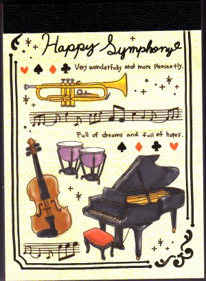 Crux Japan Happy Symphony Mini Memo Pad Kawaii