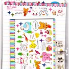 Lemon Japan Cafe Style Love Animals Letter Set with Stickers Kawaii