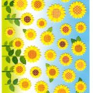 Mind Wave Japan Summer Selection Sunflowers Sticker Sheet Kawaii