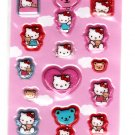 Sanrio Japan Hello Kitty Air Puff Sticker Sheet 2003 Kawaii
