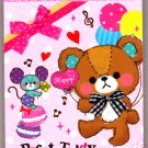 Mind Wave Japan Picot Teddy Mini Memo Pad Kawaii