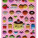 Q-Lia Japan Cutie Sweets Puffy Glitter Sticker Sheet Kawaii