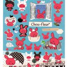 San-X Japan Chou-fleur Sticker Sheet 2010 Kawaii