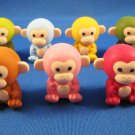 Iwako Japan Monkey Erasers Set of 7 Kawaii