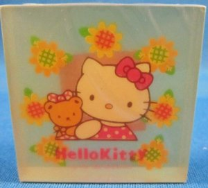 Sanrio Japan Hello Kitty Semi-Transparent Block Eraser 1996 Kawaii