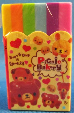 Q-Lia Japan Picnic Bakery Block Eraser Kawaii