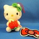 Sanrio Japan Hello Kitty with Strawberry Mascot Plush Strap by Eikoh (A) 2010 Kawaii