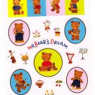Sanrio Japan Mr. Bear's Dream Sticker Sheet 1994 Kawaii