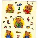 Sanrio Japan Mr. Bear's Dream Sticker Sheet 1995 Kawaii