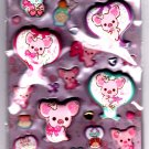 San-X Japan Piggy Girl Marshmallow Sticker Sheet 2012 Kawaii