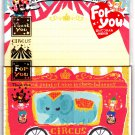 Kamio Japan Circus Letter Set with Stickers Kawaii