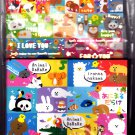 Kamio Japan Animal Darake Letter Set with Stickers Kawaii