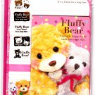 Mind Wave Japan Fluffy Bear Letter Set with Stickers Kawaii
