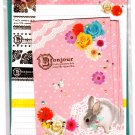 Mind Wave Japan Un Lapin Rose Letter Set with Stickers Kawaii