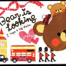 Crux Japan Bear is Looking Mini Memo Pad (F) Kawaii