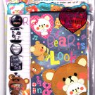 Crux Japan Bear is Looking Letter Set with Stickers (A) Kawaii