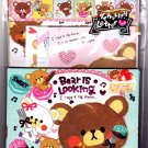 Crux Japan Bear is Looking Letter Set with Stickers (C) Kawaii