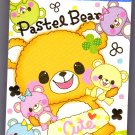 Crux Japan Pastel Bear Mini Memo Pad Kawaii