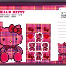 Sanrio Japan Hello Kitty Tartan Letter Set with Stickers in Pouch 2009 Kawaii