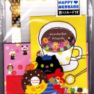 Kamio Japan Wonderful Friends Letter Set with Stickers (C) Kawaii
