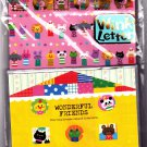Kamio Japan Wonderful Friends Letter Set with Stickers (D) Kawaii