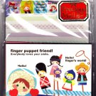Kamio Japan Finger Puppet Friend Letter Set with Stickers Kawaii