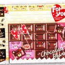 Kamio Japan Chocolate Bears Letter Set with Stickers Kawaii
