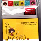 Kamio Japan Cheerful March Letter Set with Stickers Kawaii