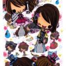 Crux Japan Kirarin Twins 2-in-1 Sticker Sheet Kawaii