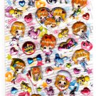 Crux Japan Caramel Ribbon Puffy Sticker Sheet Kawaii